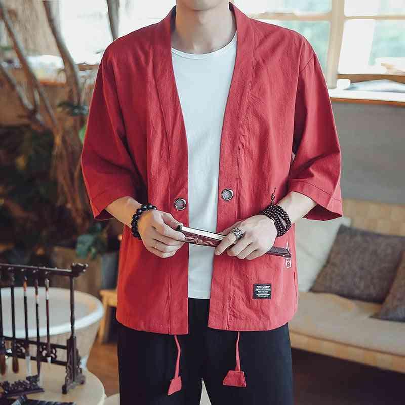 Japanese Kimonos Top Coat Cosplay Costume Print Asian Clothe
