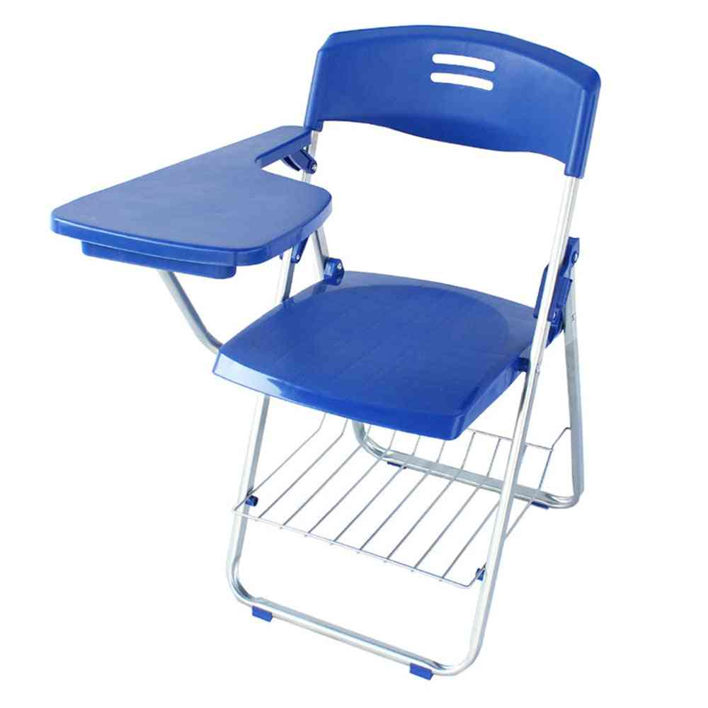 Folding Chair With Wordpad Office Meetings Chair, Plastic Breathable Backrest Chairs