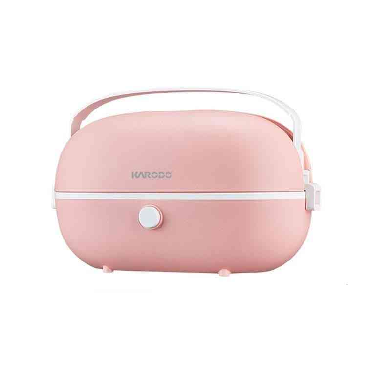 Electric Portable Heating Lunch Box, Stainless Steel Food Container