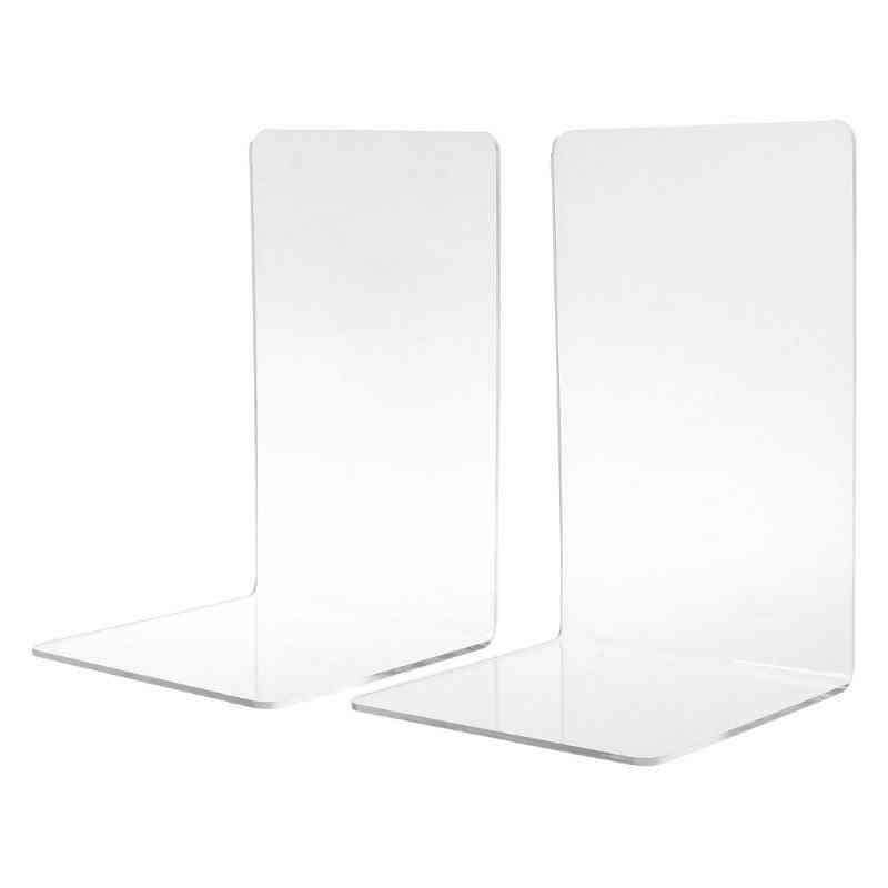 Clear Acrylic, Bookends L-shaped, Desk Organizer