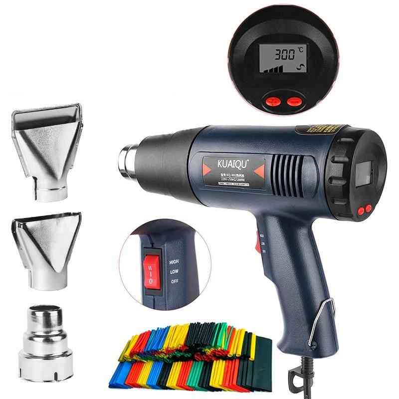 Hot Air Gun 220v Power Tool With Three Nozzle Attachments