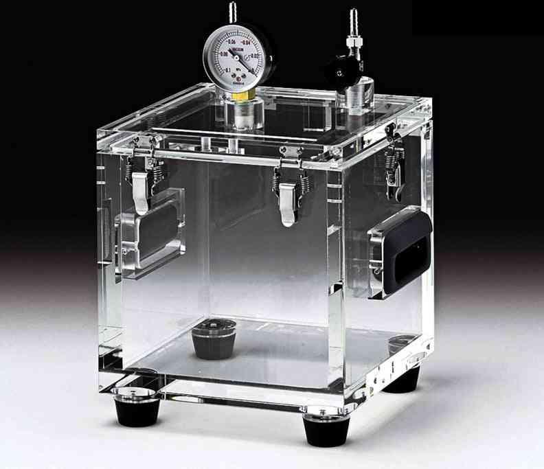 Acrylic Transparent- Vacuum Defoaming Bucket, Glove Operation Box