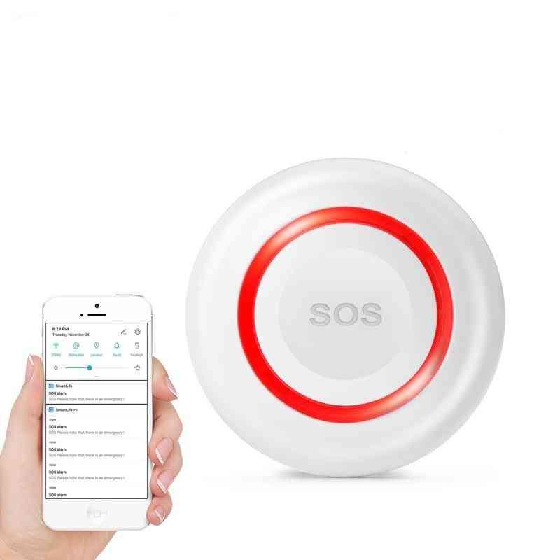 Wifi Sos Wireless, Emergency Button Alarm For Home Burglar, Alarm Sensor