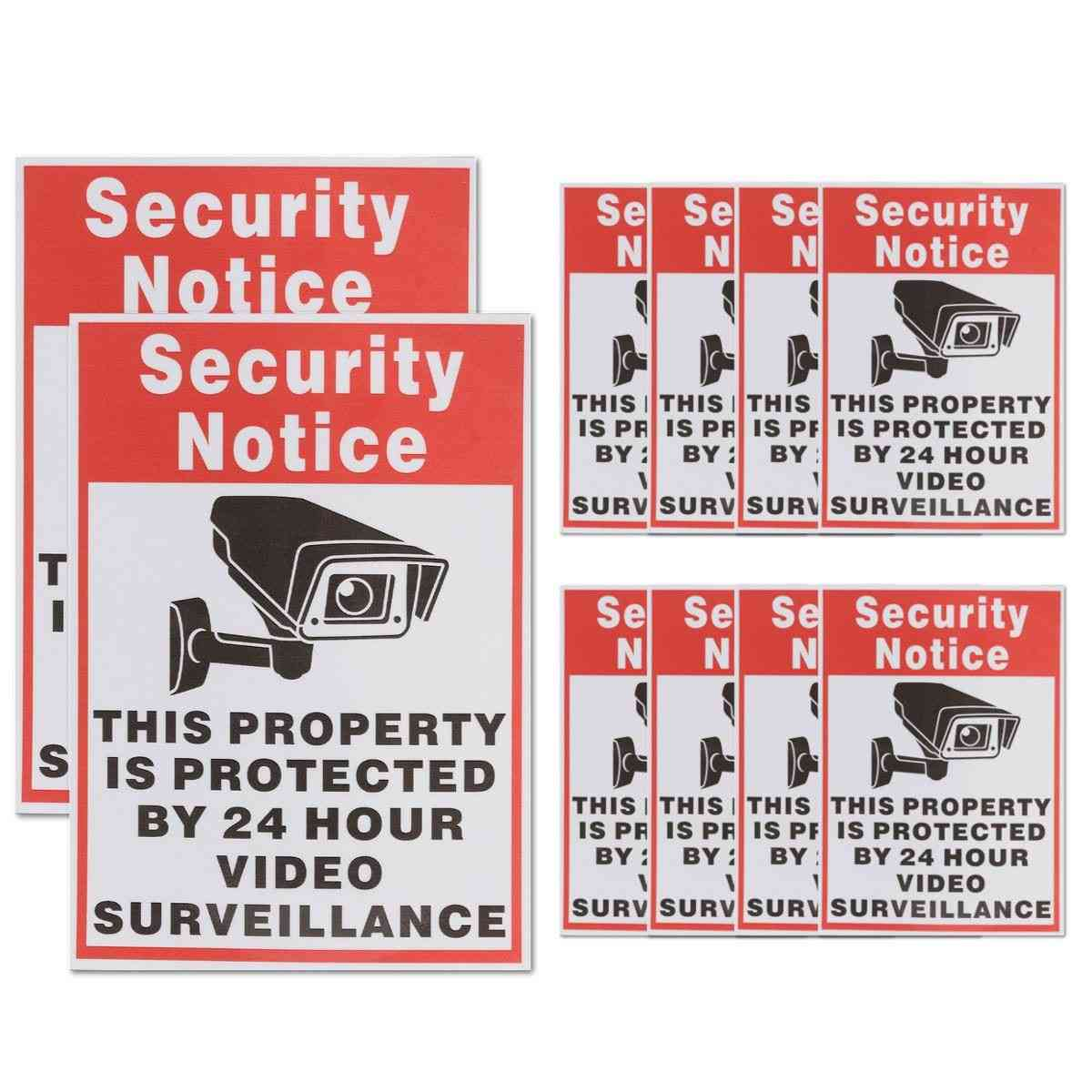 Waterproof Sunscreen Pvc Home Cctv Video Surveillance Security Camera Alarm Sticker