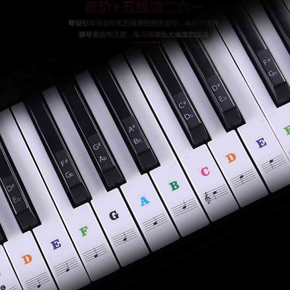 Transparent Detachable Music Decal Notes Piano Keyboard Stickers