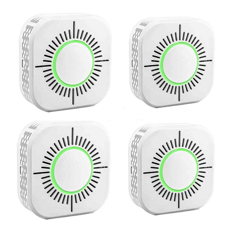 Wireless Fire Smoke Detector Alarm Sensor, Security Protection For Home Automation