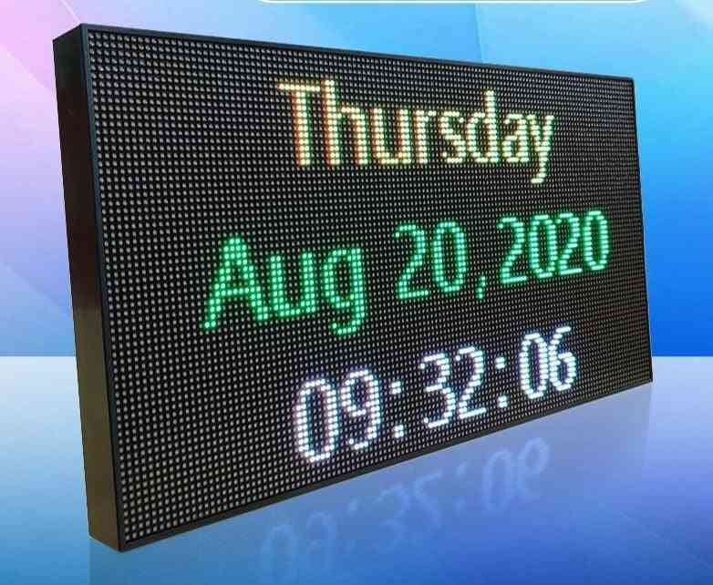 Led Banner With Full Color Displaying Scrolling Message And Programmable