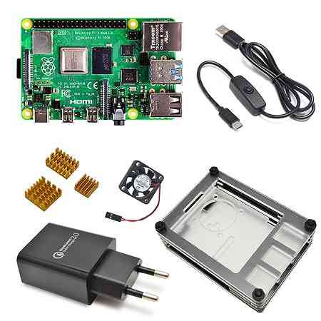 Pi 4 Model B Development Board Kit 8gb/2gb/4gb With Power Switch Line Type-c Interface Eu Charger And Heatsink