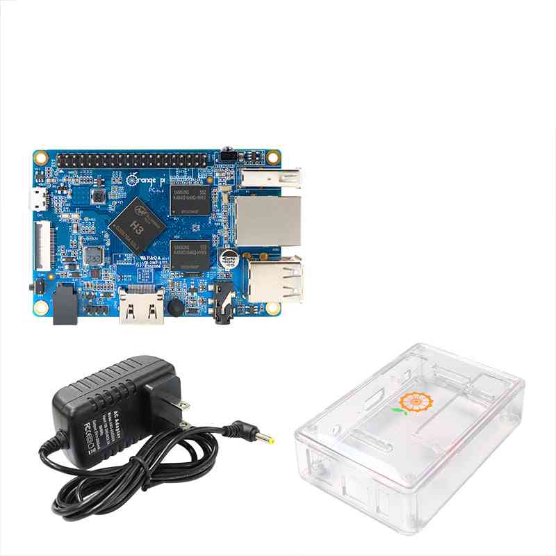 Pi Pc+ Transparent  Abs Case+ Power Supply, Open Source Single Board
