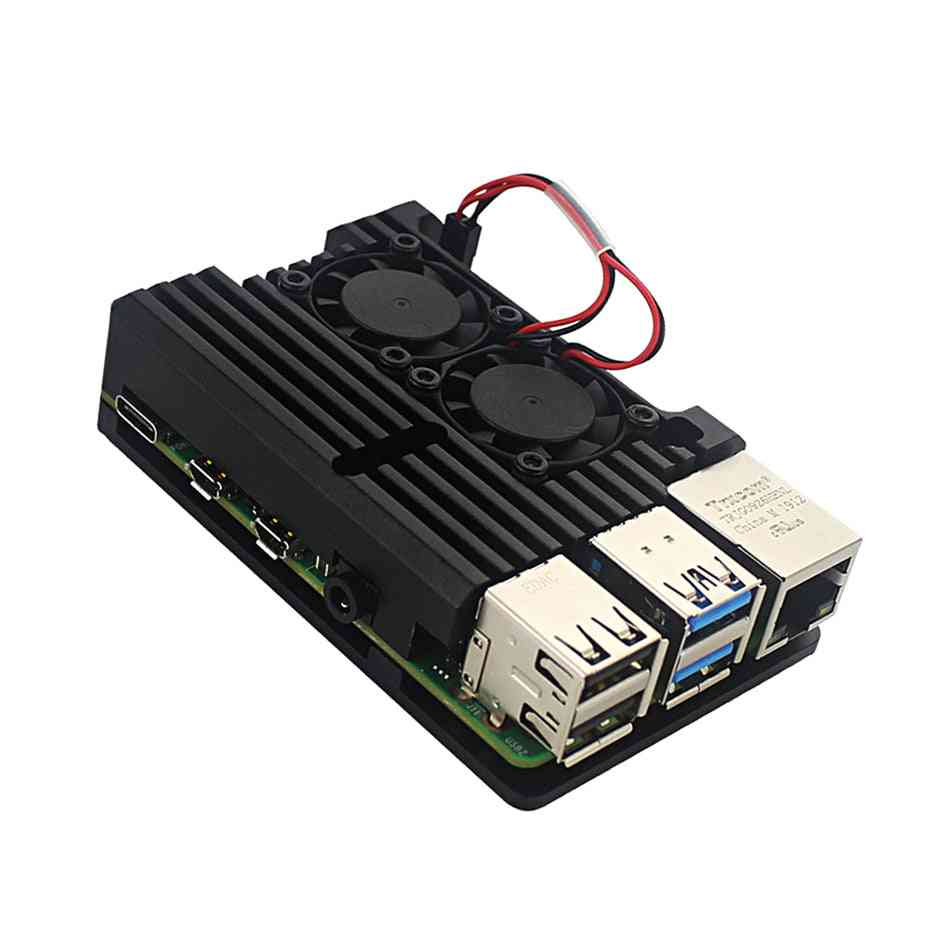 Pi 4 4b Metal Case Raspberry Pi Case With Dual Cooling Fan /protection Cases