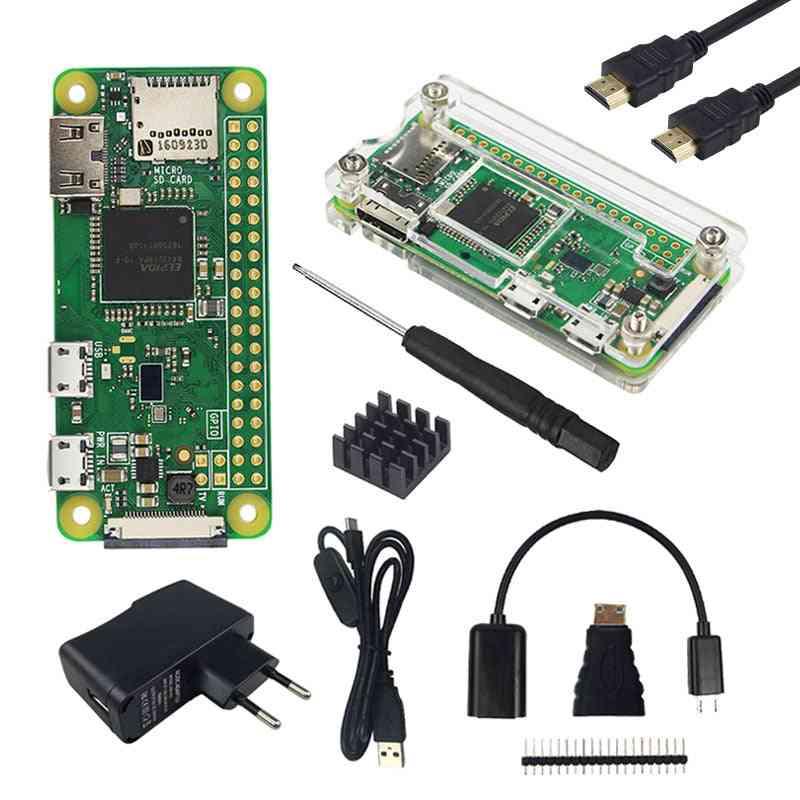 Pi Zero W Kit + Acrylic Case +  Optional Sd Card, 2.8 Inch Touchscreen, Camera, Rj45 Network Card, Hdmi Cable