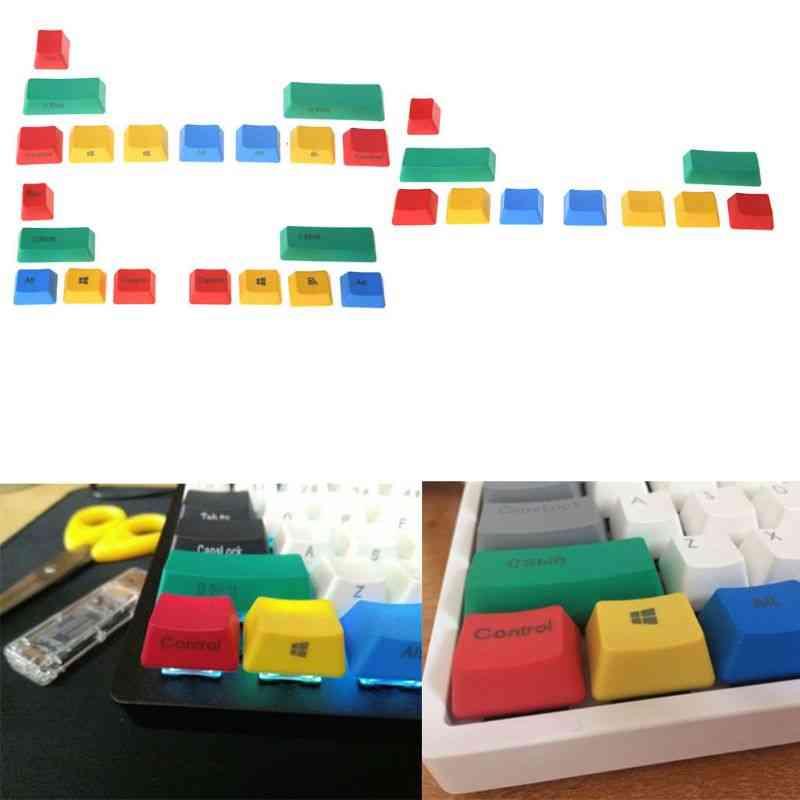 Mechanical Keyboard Add-on Keycaps Kit, Colorful Interesting