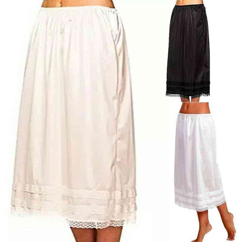Women's Lace Petticoat Under Dress Long Skirt Safety Skirt Oversize