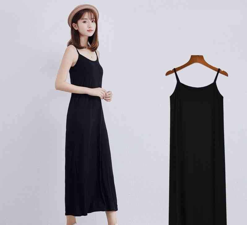 Women's Long Under Dress Camisoles Slips Inner Petticoat