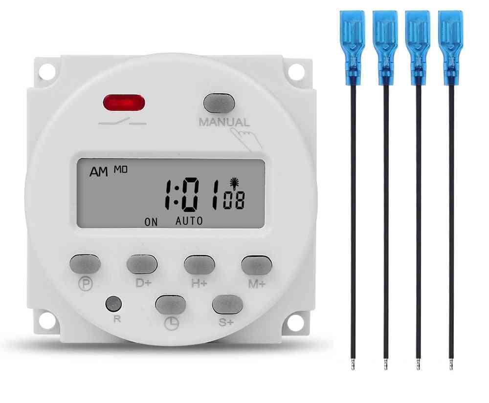 5v 12v 24v 110v 220v Digital Lcd Timer Switch Programmable Time Relay Programmer Cn101s