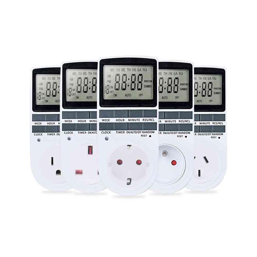 Digital Timer Switch 220v Programmable Timer Socket Relay Outlets Socket For Household