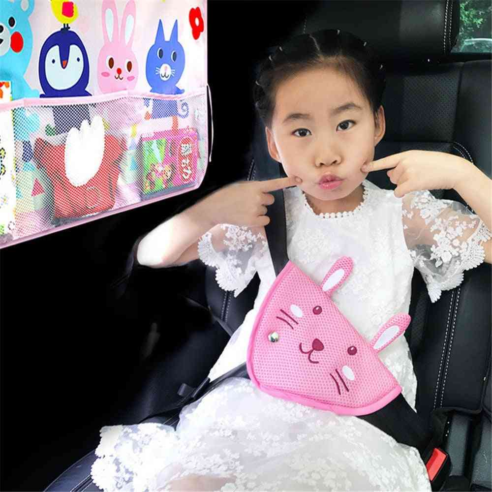 Cute Cartoon Car Seat Belt, Triangle, Adjuster, Breathable Safety Device Cover, Styling Baby Kid Protective Pad