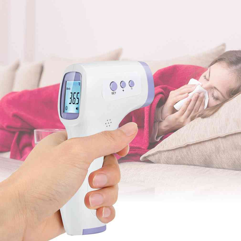 Infrared Body Non-contact Temperature Abs For Adults With Lcd Display Digital Laser Forehead Tool