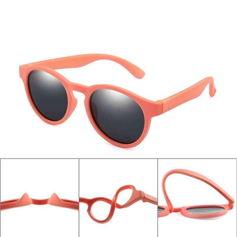Uv400- Colorful Polarized, Round Sun-glasses Eyewear, Silicone Eyeglasses For &
