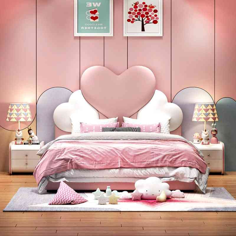 Soft Bag Youth Leather Bed Single Girl Furniture