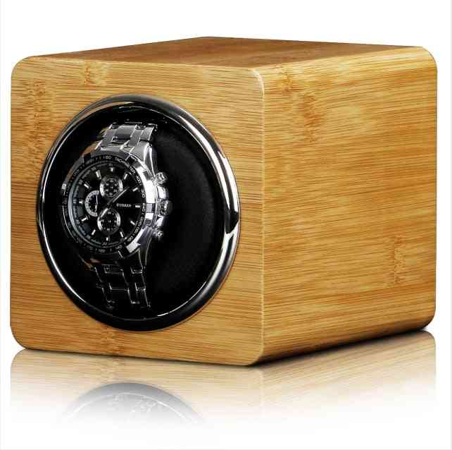 Watch Winder Box, Display Mechanical Rotating Leather Case