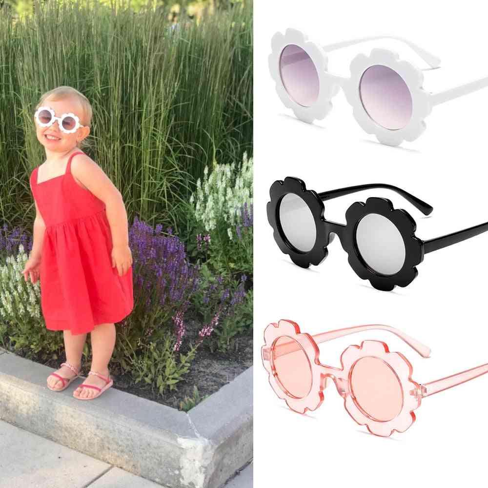 Vintage Sun-glasses, Round Flower, Gafas Sport Sunglasses For &