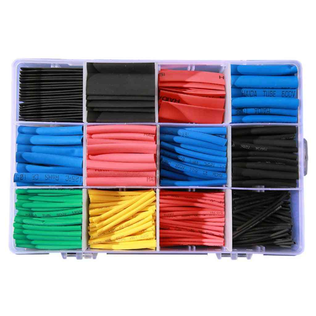 Electrical Wire Cable Wrap Assortment Electric Insulation Tube Kit With Box