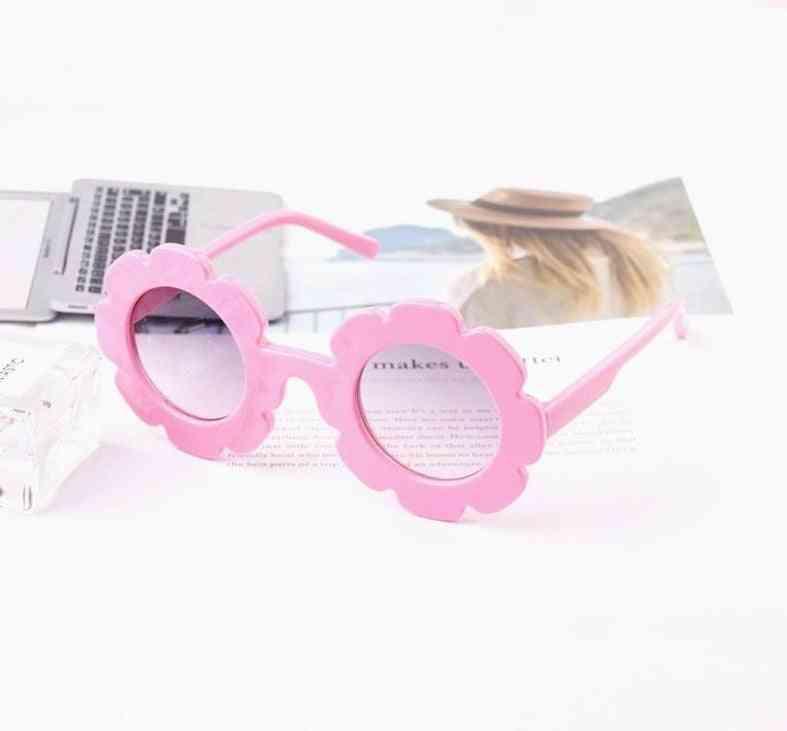 Uv400- Sun Flower, Round Sun-glasses For &