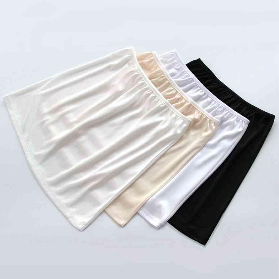 Women's Casual Mini Loose  Vestidos Underskirt Skirts Basic Half Petticoat