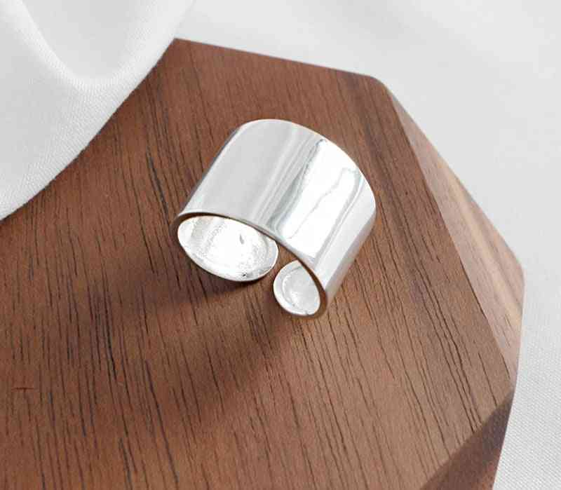 Real Pure- Simple Big Smooth, Open Finger Rings