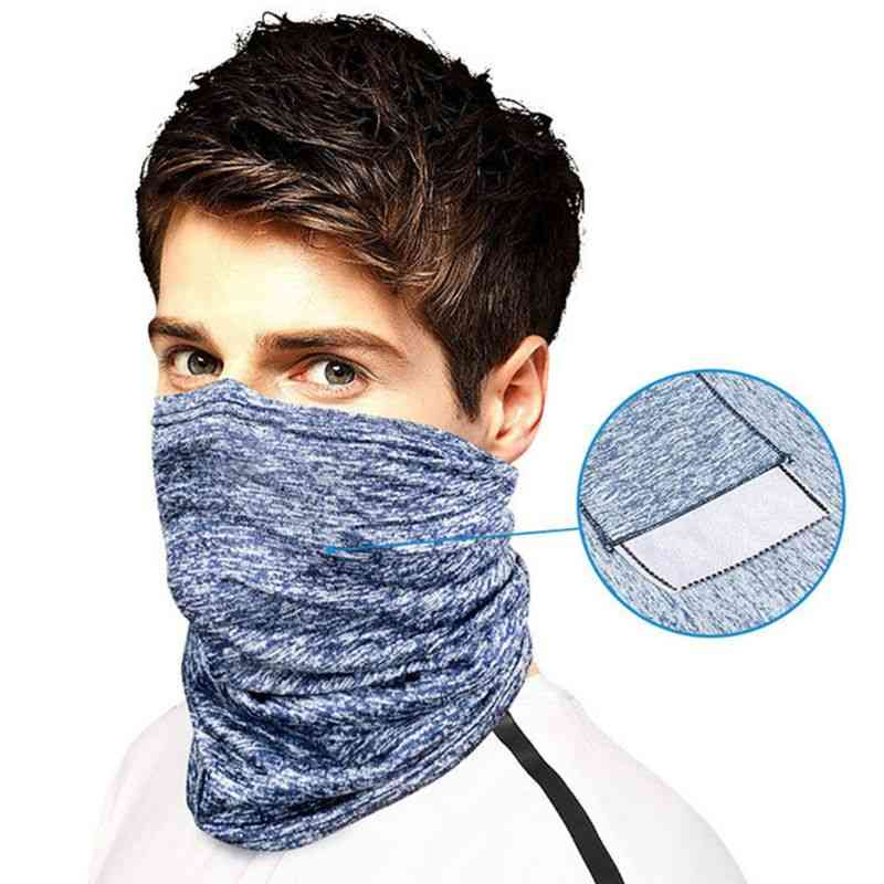 Unisex Seamless Face Mask Scarf With Filter Pocket For Outdoor Cycling Dustproof Sunscreen