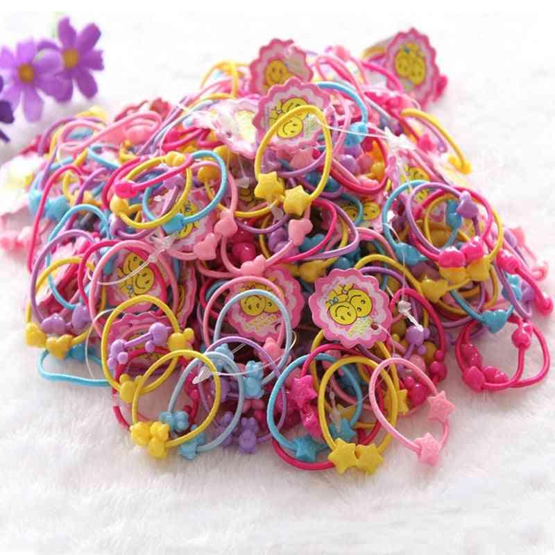 Girl Cartoon, Flower, Apple & Rabbit Hair Ropes Headdress Elastic Rubber Bands