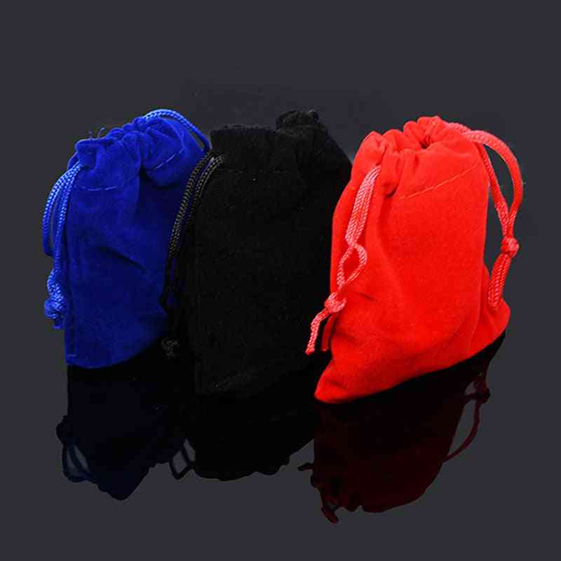 Colorful Velvet Pouches Jewelry Packaging Display Drawstring Packaging Bags