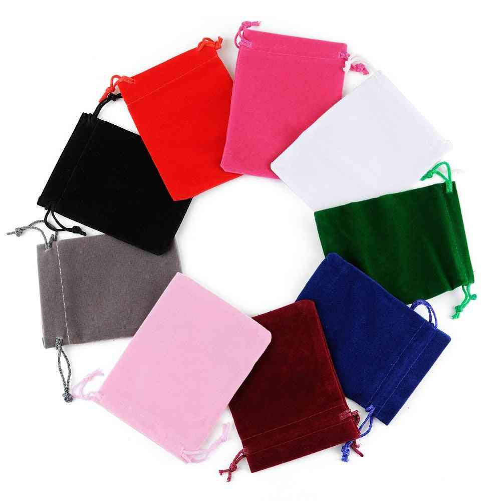 50pcs 5x7 Velvet Bag, Drawstrings Pouches Small Size Jewelry Display Packing Bags