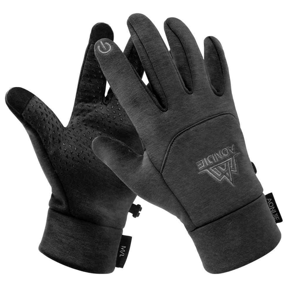 Men, Women Winter Themal Touchscreen Fleece Gloves, Anti-slip, Windproof, Cycling Mittens For Camping, Hiking, Running