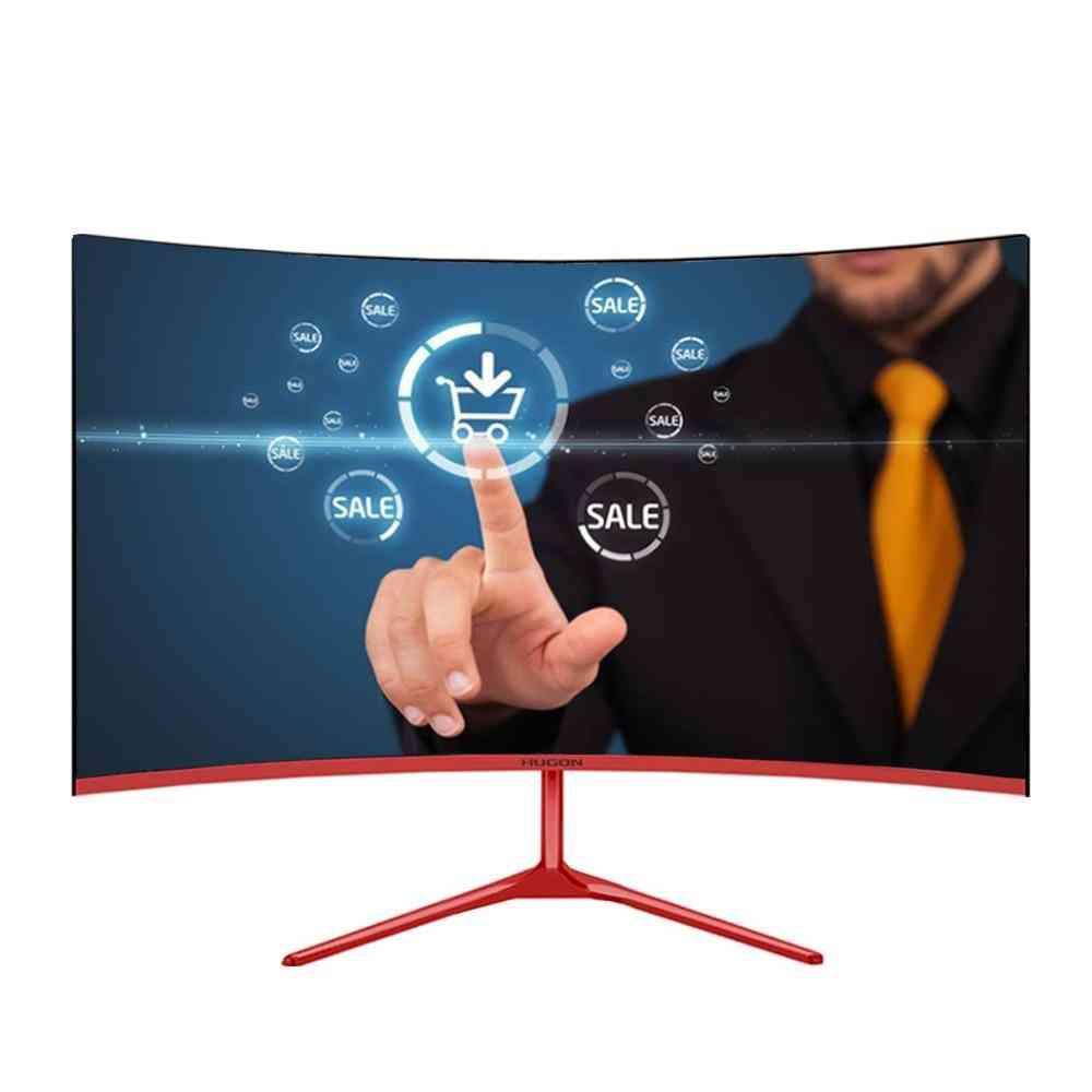 Curved Monitor Pc, Mva/spva, Computer Display Screen, Full-hd Input Vga