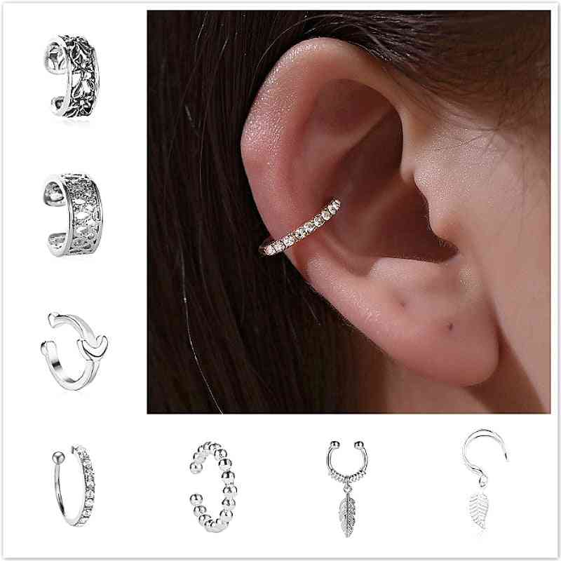 Body Jewelry Cuff Clip Nose Ring & Clip Wrap Earring