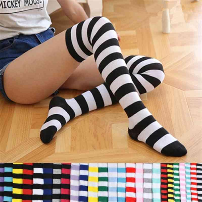 Casual Cotton Thigh High Over Knee Acrylic High Socks