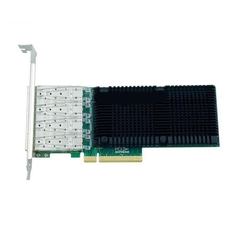 Pci-express Marvell Qlogic 10gb Ethernet Sfp & 4 Porte In Fibra Adattatore Lan