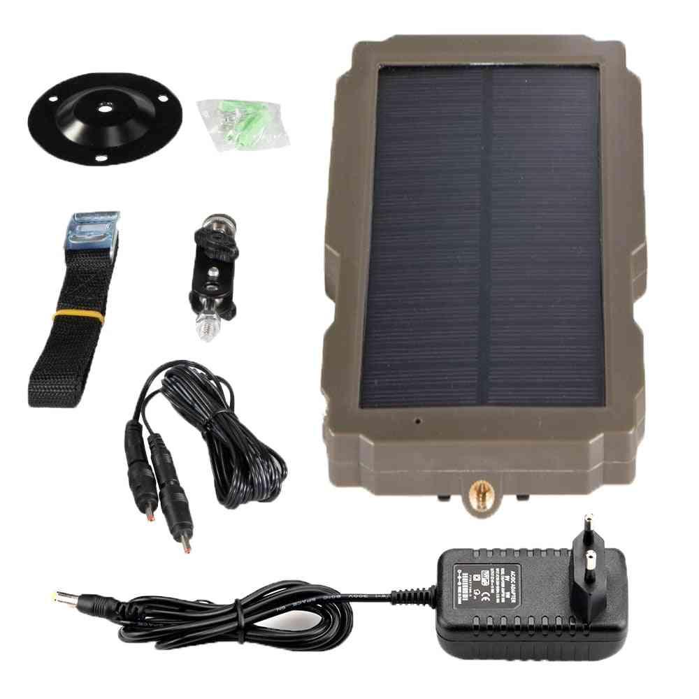 12v Hunting Camera Solar Panel  Power Supply Charger Battery For Suntek 9v