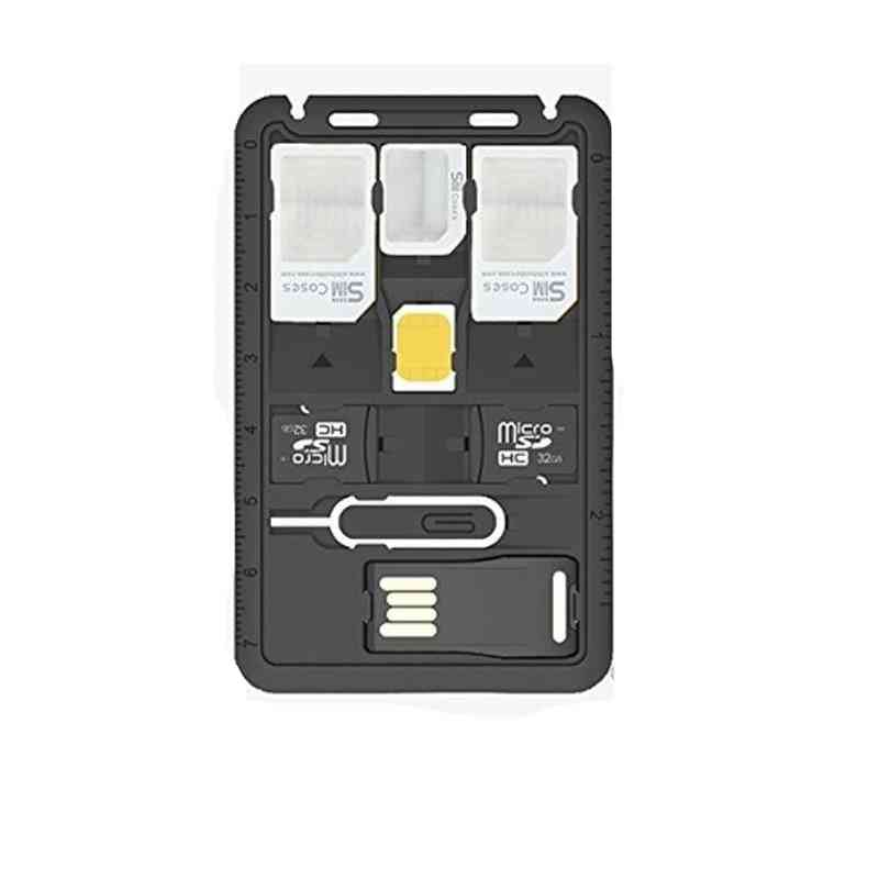 Sim Card Adapter Storage Case Kits Tray Eject Pin Holder