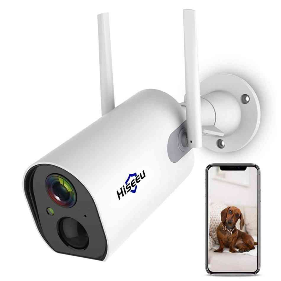 Wireless Outdoor Security Ip Camera Battery Powered Rechargeable 1080p Hd Waterproof Pir Alarm