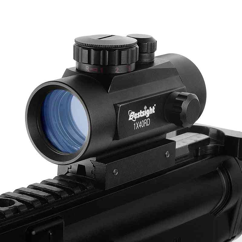 Tactical Rifle, Scope Dot Collimator With Rail Mount, Airsoft Air Hunting