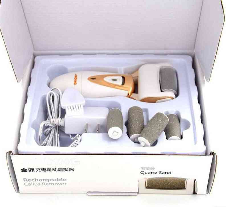 Foot Care Tool With Rollers, Electric File For Cracked Heels