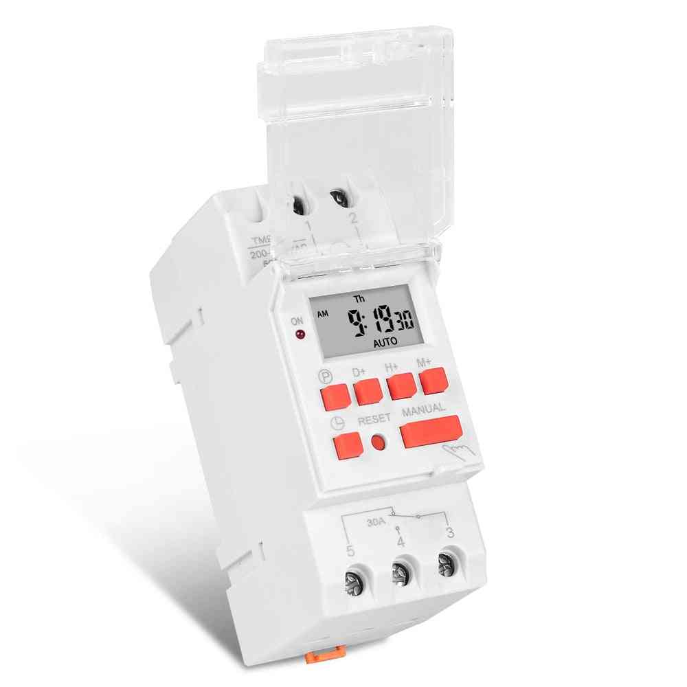 Heavy Duty Weekly 7 Days Programmable Digital Time Switch Relay Timer Control