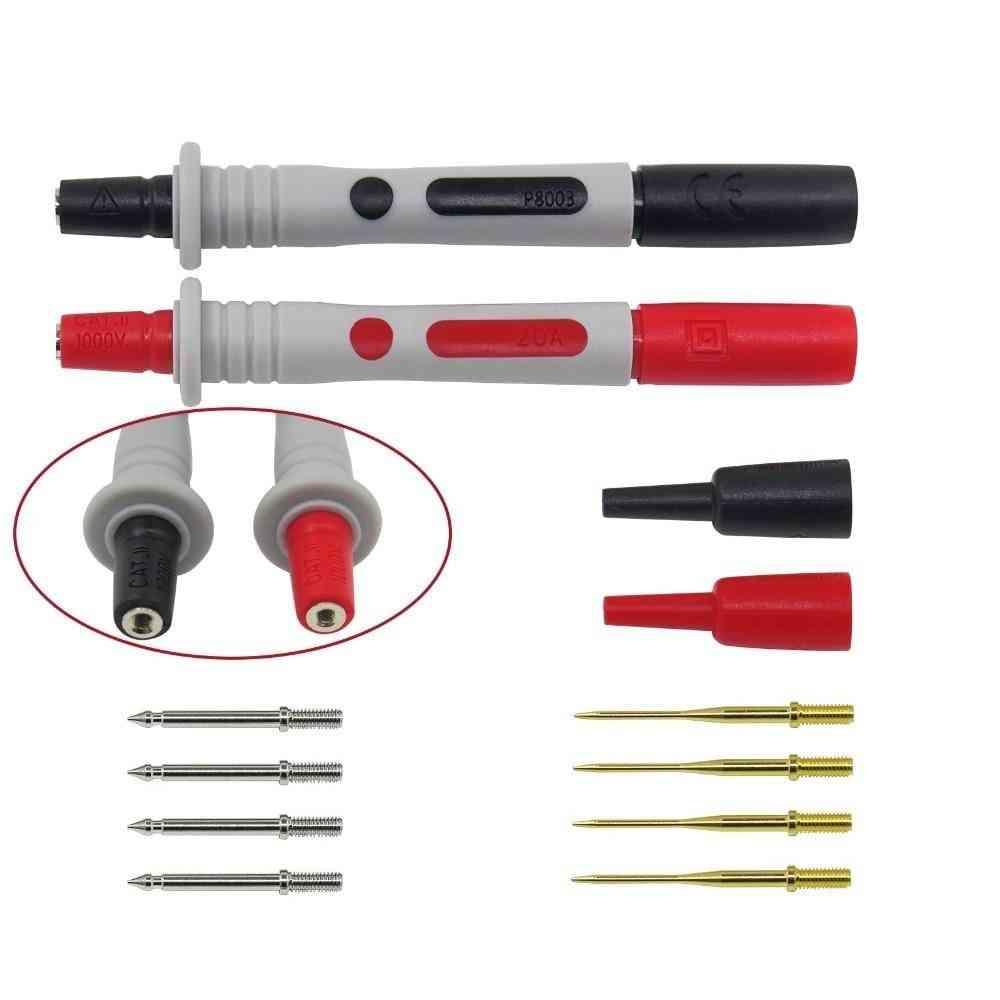 2pcs Multimeter Probe Replaceable Gilded Needle Test Pen (p8003)