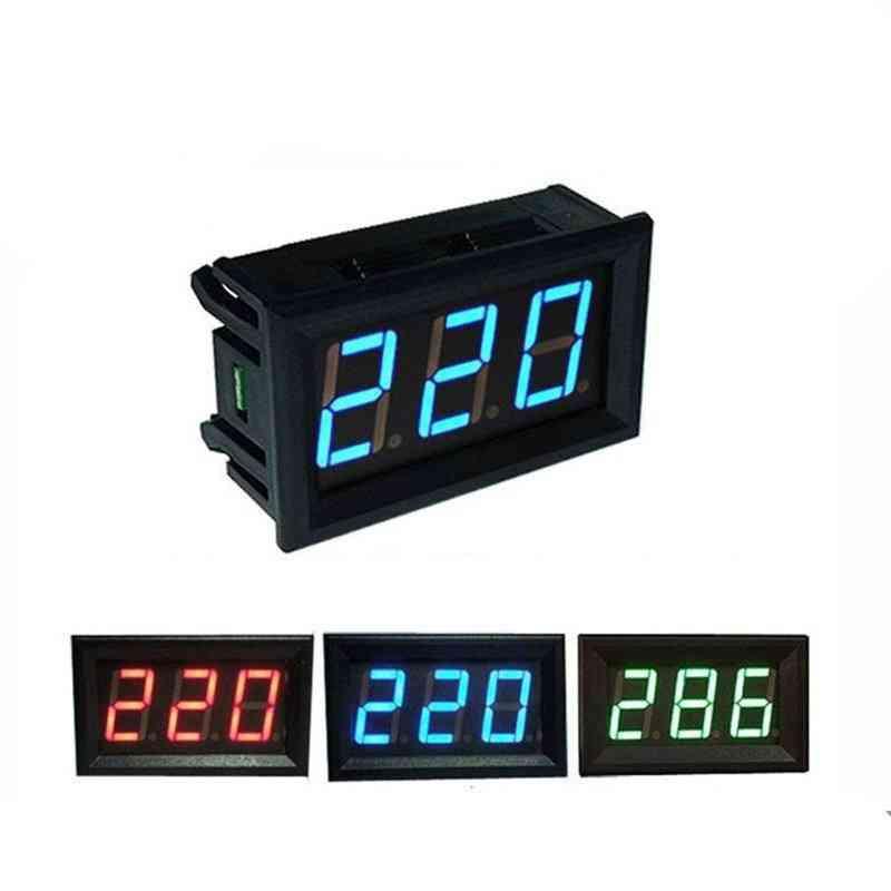 Led Digital Voltmeter Voltage Meter Volt Instrument Tool