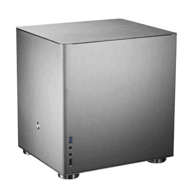 V4s V4 Silver Htpc Case Matx With All Aluminum 1.5mm, 3.5'' Hdd, Usb3.0 5gbps, Pci Slot