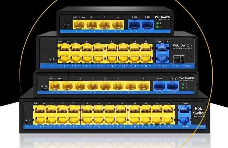 Poe Switch Ethernet With Standardized Port