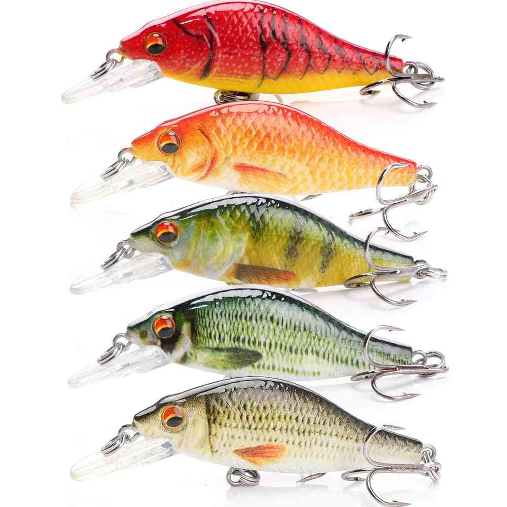 Minnow Wobblers Pike Fishing Lure Artificial Bait Hard Swimbait